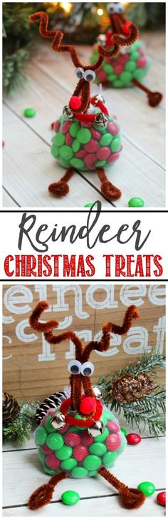 Treats Christmas Craft These cute little reindeer just take a few minutes to make and are a fun way to decorate your Christmas table!These cute little reindeer just take a few minutes to make and are a fun way to decorate your Christmas table! Christmas Favors, Christmas Crafts For Kids, Christmas Goodies, Christmas Projects, Christmas Treats, All Things Christmas, Simple Christmas, Holiday Crafts, Christmas Holidays