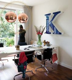 Home I Office I Interior I Furniture I runde Kupfer Leuchte I Design I Copper Shade Lighting by Tom Dixon