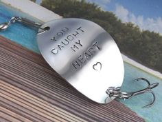 Personalized Fishing Lure! You Caught My Heart! Cute Personalized Fishing Lure!! Great Gift!