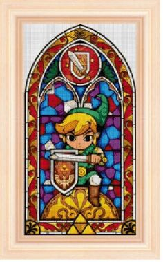 Legend of Zelda stained glass 3 cross stitch por NeniDesign