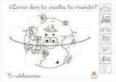 "Proyecto ""La vuelta al mundo"". Fichas para imprimir. Educacion Intercultural, Sistema Solar, Crafts For Kids, Snoopy, Australia, Education, World, Children, Projects"