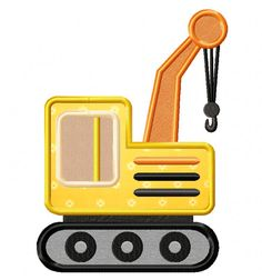 Construction Truck Applique & Stitched Download EmbroiderOcean Design