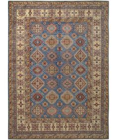 New Afghani Fine Kazak Rug SH-33439-Design# 2313, Size- 8' x 10' #carpet #rugs #flooring #office #home #decoration #bedroom #livingroom #diy #handmade #best #cleaning #modern #design #runner #print
