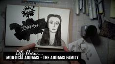 Morticia Addams from The Addams Family - Bad Add Ladies of Horror - Inktober 2018