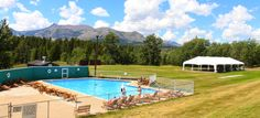 Glacier Park Lodge is conveniently located in East Glacier Park, Montana. Built over a century ago, this historic lodge is the perfect hotel for your Glacier National Park vacation. Glacier Park Lodge, Lodges, Pavilion, Montana, National Parks, Vacation, Building, Outdoor Decor, Cabins