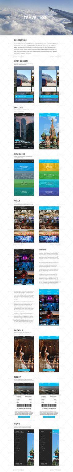 Mockup Travel iOS - User Interfaces Web Elements
