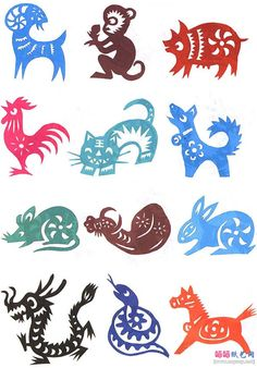 Chinese paper cutting.  Chinese zodiac- what nice, simple designs! www.luckybamboocrafts.com