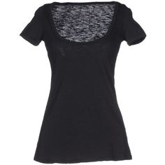 Twelve-t T-shirt (47 CAD) ❤ liked on Polyvore featuring tops, t-shirts, black, black short sleeve t shirt, logo tee, short sleeve t shirts, logo t shirts and black tee