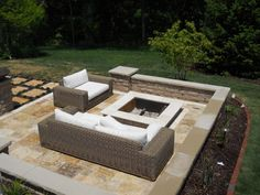 CopperTree designed patio and fire pit