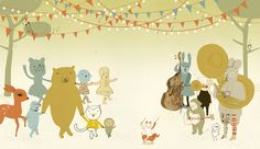 Very cute illustration from Camilla Engman. Really loving the whimsical feel and muted colour palette.