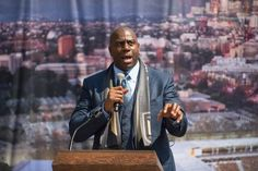 LOS ANGELES, CA - AUGUST 23:  Former NBA player Earvin 'Magic' Johnson speaks onstage at the Los Angeles Football Club stadium groundbreaking ceremony on August 23, 2016 in Los Angeles, California.  (Photo by Emma McIntyre/Getty Images)