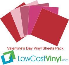Valentine's Day Vinyl Colors Pack | Oracal 631 Removable Vinyl Sheets #oracal #oracal631 #valentinesdaycrafts #craftsupplies #redvinyl #pinkvinyl #valentinesdayvinyl #lowcostvinyl #vinylsupplies #cricut #silhouette #craftsupplies #vinyl #crafty Vinyl Cutter Machine, Finishing Materials, Vinyl Sheets, Vinyl Crafts, Valentine Day Crafts, Red And Pink, Craft Supplies, Craft Projects, Cricut