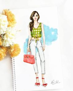 "559 aprecieri, 31 comentarii - Dipti Patel (@dipti.illustration) pe Instagram: ""Happy Saturday y'all 💚🌼 #fashionillustration #artoftheday #sunnysaturdays"" Dress Design Drawing, Dress Design Sketches, Fashion Design Sketchbook, Fashion Design Drawings, Fashion Sketches, Fashion Illustration Tutorial, Dress Illustration, Fashion Illustration Dresses, Fashion Illustrations"