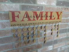 Family Birthday Reminder Board Sign - Hand-Painted, Solid Wood, No Vinyl, Completed Tags. $55.00, via Etsy.