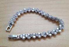 Jewelry Bracelet 0.5 Carat Silver Platinum Cubic Zirconia