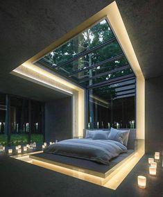 Modern Bedroom Design, Home Room Design, Dream Home Design, Modern House Design, Bedroom Designs, Design Homes, Loft Design, Bedroom Ideas, Bedroom Decor
