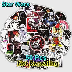 [ 30% Off ] 55 Pcs Fashion Star Sticker for Laptop Luggage Bags Handbag Cool Cartoon Man DIY Wars Man Stickers Doodle PVC Creative Decal Toy