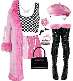 No photo description available. Kpop Fashion Outfits, 2000s Fashion, Stage Outfits, Girly Outfits, Classy Outfits, Stylish Outfits, Mode Style, Polyvore Outfits, Aesthetic Clothes