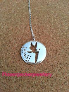 Fairy Silver Pendant  Pixie Silver Jewellery by flowerpecker