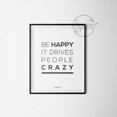 Poster 'Be Happy' od CIDESIGN