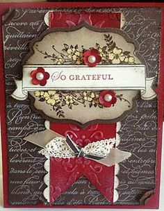 The new Stampin' Up Die cut and stamps! Love these!! So grateful (Heather Mills)