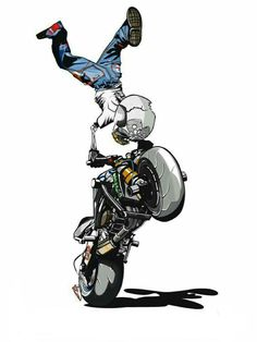 Motorcycle Stunt Names Stunt Bike, Motorcycle Posters, Motorcycle Art, Norton Motorcycle, Foto 3d, Bike Drawing, Biker Boys, Bike Photography, Joker Art