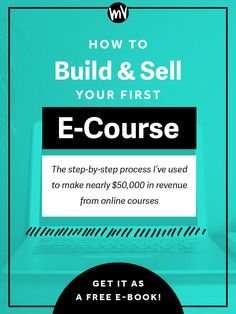 Due to the popularity of this post, I've taken the information here and turned it into a $30 e-course called Your First E-Course. It takes you step by step in my process for building AND selling an online course, plus shows you detailed screencasts of how to use tools like QuickTime and iMovie to pr