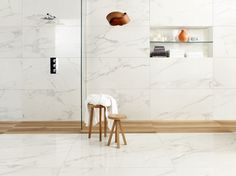 Porcelain stoneware wall/floor tiles with marble effect ANIMA CALACATTA ORO Anima Collection by Ceramiche Caesar