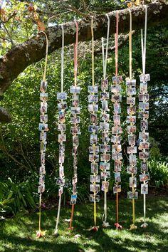 string photos wedding backdrop ideas for woodland weddings
