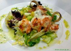 Salade scampis grillés et mangue 2, Entre Sucre & Sel