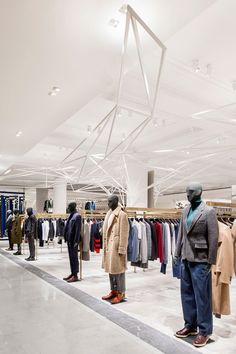 Retail Design | Shop Design | Fashion Store Interior Fashion Shops | Selfridges Mens Designer Space by Alex Cochrane Architects