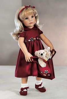This pretty little girl is all decked out for my favorite season - Fall!  Also through Samanthadolls.com through the Steiff collection