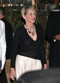 Sharon Stone Photos - Celebrities Dine Out at SoHo House - Zimbio