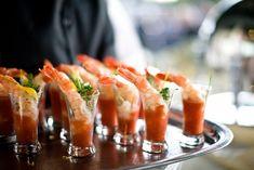 Mini Shrimp Cocktails for Buffet Table