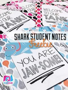 Your students will love these shark-themed teacher notes! And they're provided in PowerPoint form with blank templates, so you can change the message to whatever you wish. :)I also have an Editable SHARK Themed Morning Work PowerPoint Templates FREEBIE, too!Looking for classroom theme decorations?