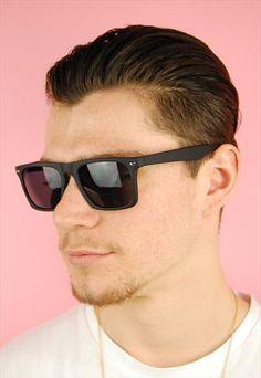 Matte Black Mens Sunglasses