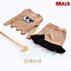 32.31$  Buy now - https://alitems.com/g/1e8d114494b01f4c715516525dc3e8/?i=5&ulp=https%3A%2F%2Fwww.aliexpress.com%2Fitem%2FAlaar-autumn-and-winter-sweater-0-1-2-3-baby-girl-children-knitted-set-autumn-sweater%2F32764785043.html - Alaar autumn and winter sweater 0-1 - 2 - 3 baby girl children knitted set autumn sweater dress twinset
