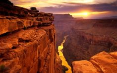 Grand Canyon, USA: The Grand Canyon is about two billion years old, carved by the Colorado River. The best season to visit Grand Canyon is during summer. Grand Canyon National Park is a must-see! Oh The Places You'll Go, Places To Travel, Places To Visit, Parque Nacional Do Grand Canyon, Grand Canyon Sunset, Natural Wonders, Wonders Of The World, The Good Place, Beautiful Places