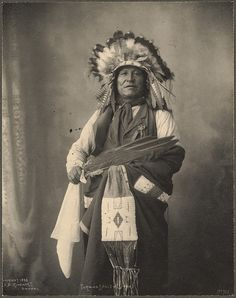 F.A. Rinehart photograph of Turning Eagle, Sioux. (c. 1898).