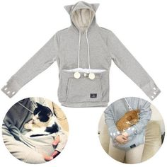 Kitty cat holder hoodie