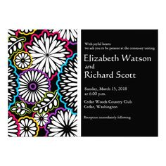 Shop Zazzle's luxurious range of custom wedding invitations. ✅ If your event changes, we'll reprint your new cards for free. Wedding Save The Dates, Save The Date Cards, Fun Wedding Invitations, Invites, Save The Date Templates, Perfect Wedding, Reception, Leaves, Colorful