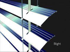 Solar Powered Window Blinds - http://www.ecosnippets.com/alternative-energy/solar-powered-window-blinds/