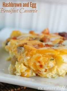 Hashbrown & Egg Casserole | Six Sisters' Stuff