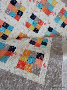 9 patch quilt - Scrappy Nine Patch Quilt – 9 patch quilt Quilt Square Patterns, Quilt Patterns Free, Pattern Blocks, Square Quilt, Easy Patterns, 9 Square, Block Patterns, Sewing Patterns, Nine Patch Quilt