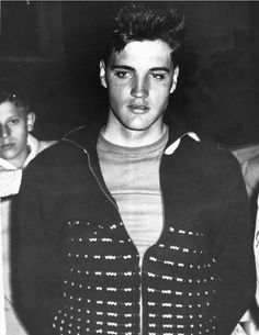 Young serious Elvis