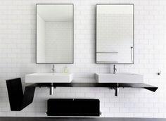 Kub Par Victor Vasilev - Almost invisible minimalist kub bathroom sink by victor vasilev