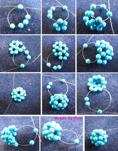 Best Seed Bead Jewelry 2017 - Beaded ball tutorial Seed bead jewelry Beaded Bead Tute with beads numbered for clarity ~ Seed Bead Tutorials Discovred by : Linda Linebaugh Seed Bead Tutorials, Seed Bead Patterns, Beaded Jewelry Patterns, Beading Tutorials, Beading Patterns, Bracelet Patterns, Beading Ideas, Knitting Patterns, Crochet Patterns