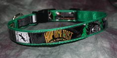 Adjustable Dog Collar from Recycled RoughTail Brewing Hoptometrist Beer Labels by squigglechick on Etsy