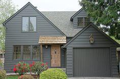 grey exterior house colors Super Exterior Paint Colors For House Black Dark Ideas Tudor House Exterior, Black House Exterior, Exterior Paint Colors For House, Grey Exterior, Exterior Cladding, Cottage Exterior, Paint Colors For Home, Modern Exterior, Exterior Design