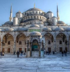 The Blue Mosque of Istanbul.
